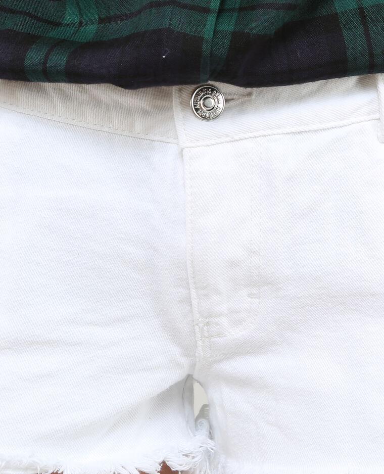 Short jean destroy blanc