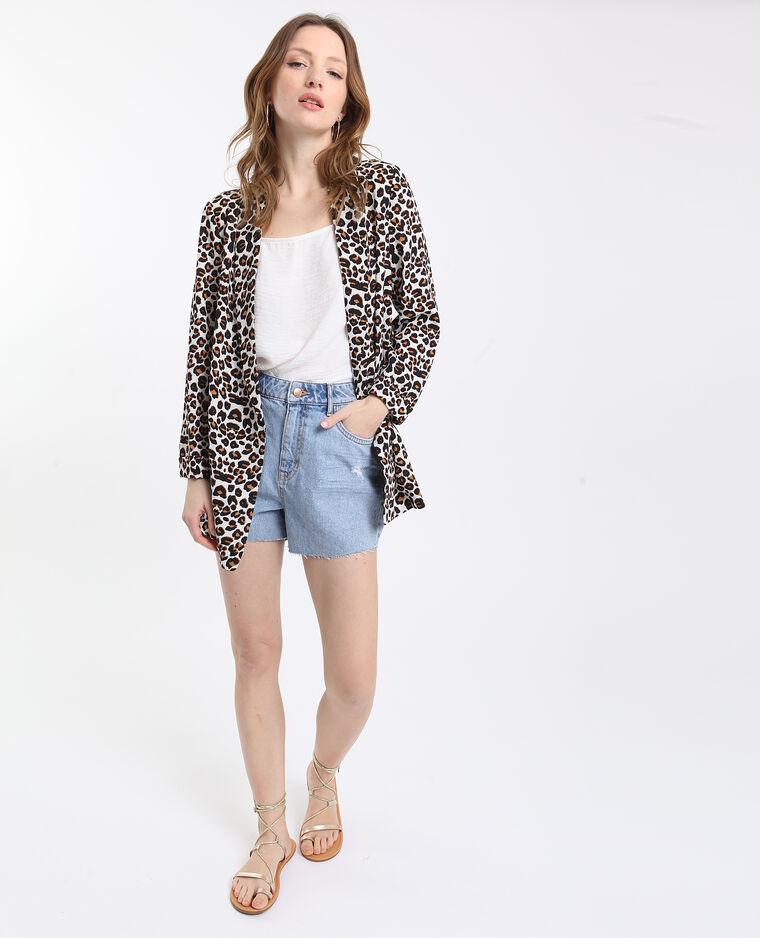 Blazer léopard ecru