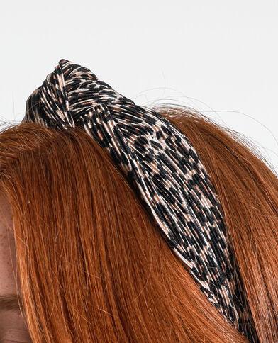 Serre-tête léopard noir