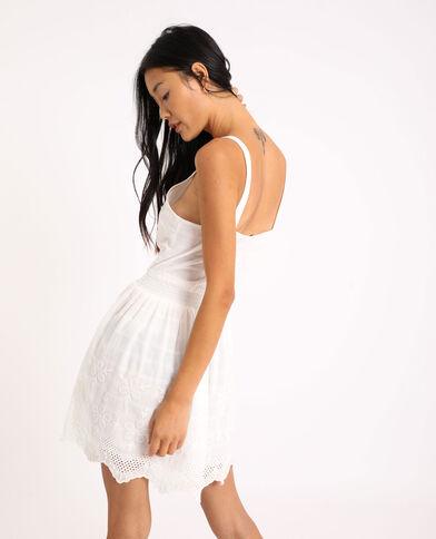 Robe brodée blanc