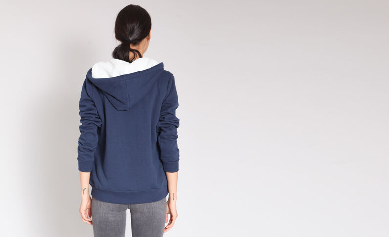 Sweat zippé bleu marine