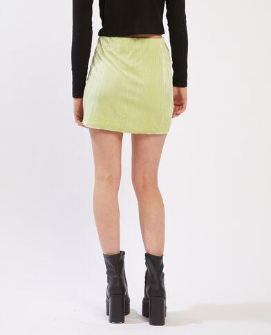 Jupe courte en velours vert - Pimkie