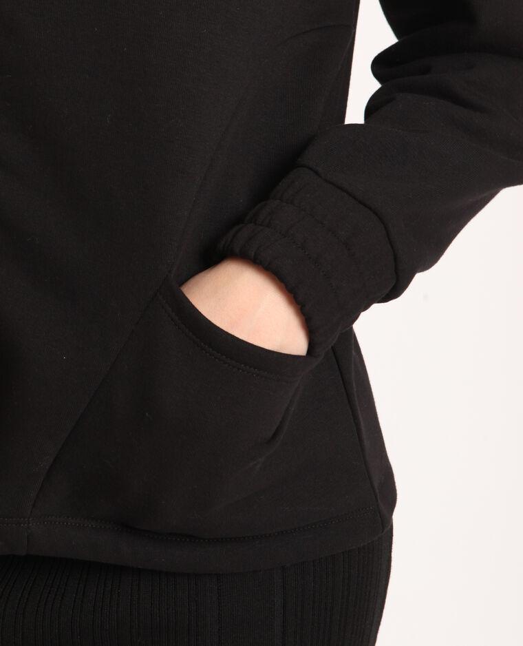 Sweat zippé noir