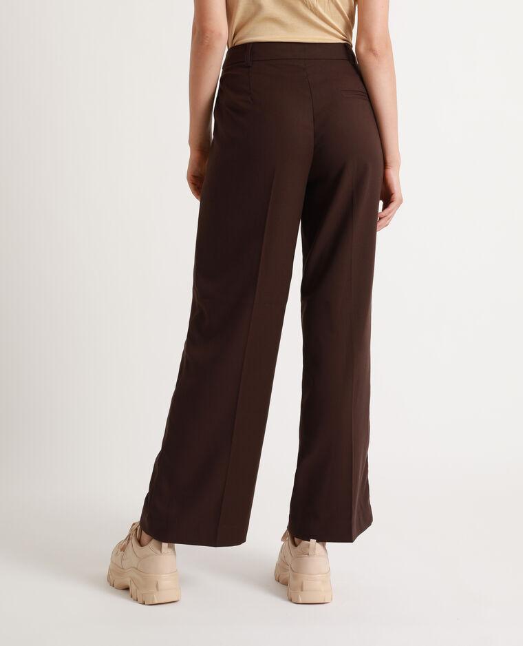 Pantalon large chocolat