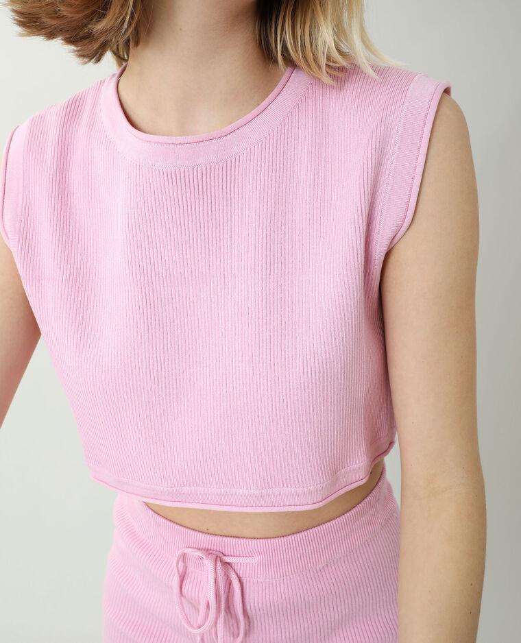 T-shirt tricot rose - Pimkie