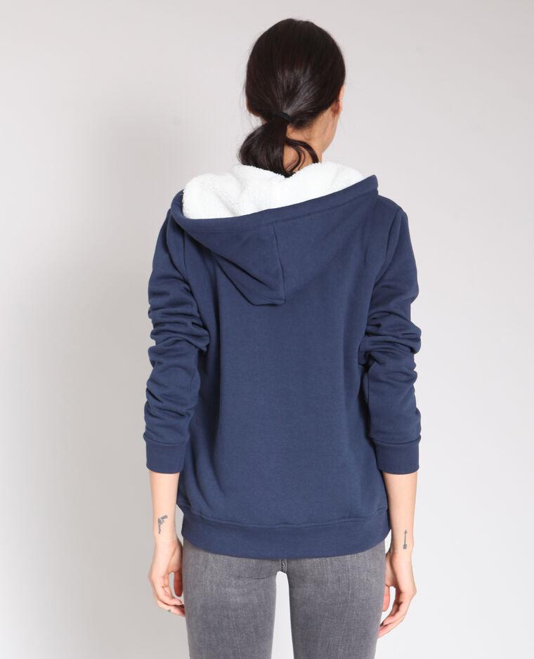 Sweat zippé bleu marine