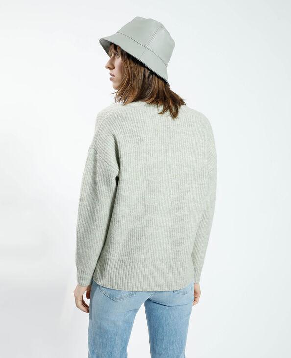 Pull en laine vert d'eau - Pimkie