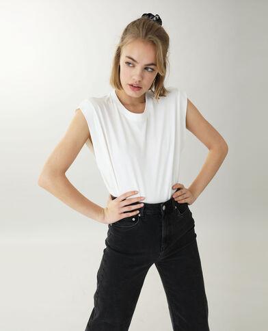 T-shirt sans manche blanc - Pimkie