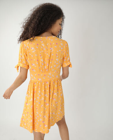 Robe fleurie orange