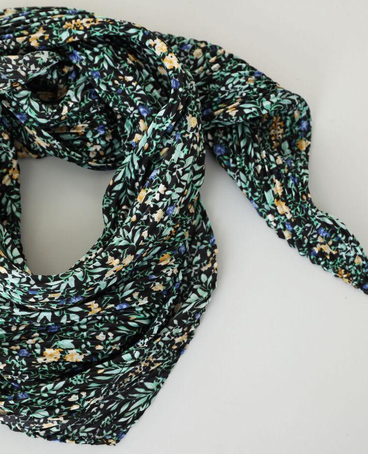 Foulard plissé noir - Pimkie