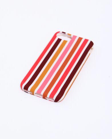 Coque à rayures compatible iPhone orange