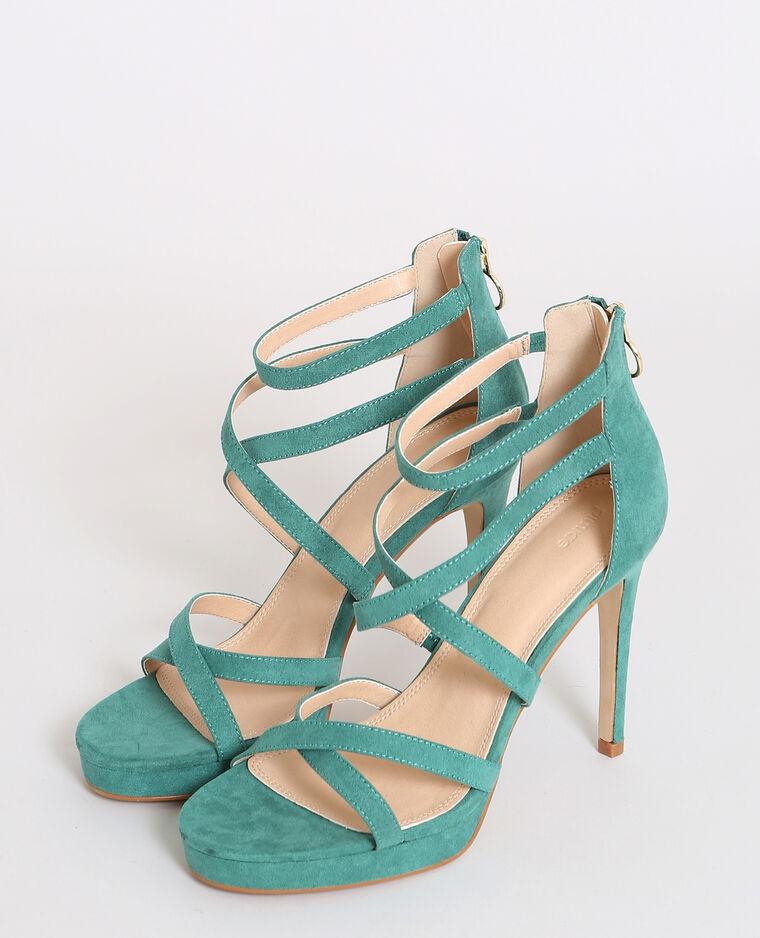 Sandales à talons aiguilles vert