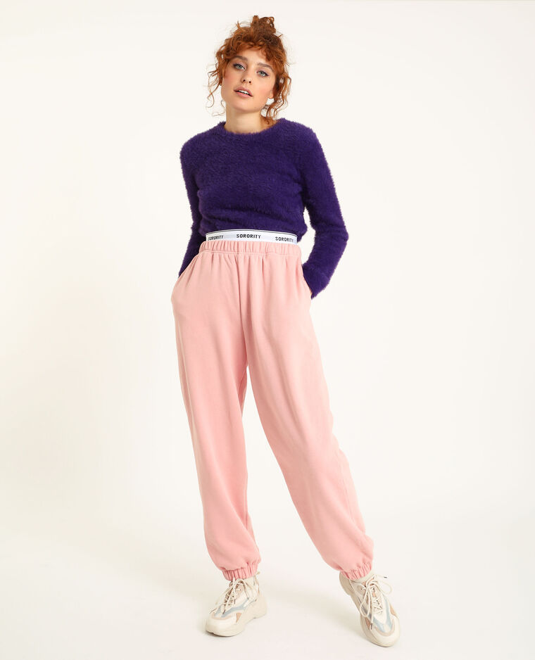 Pantalon molleton loungwear rose - Pimkie
