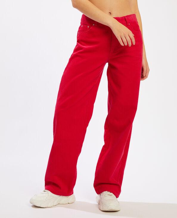 Pantalon velours rose - Pimkie