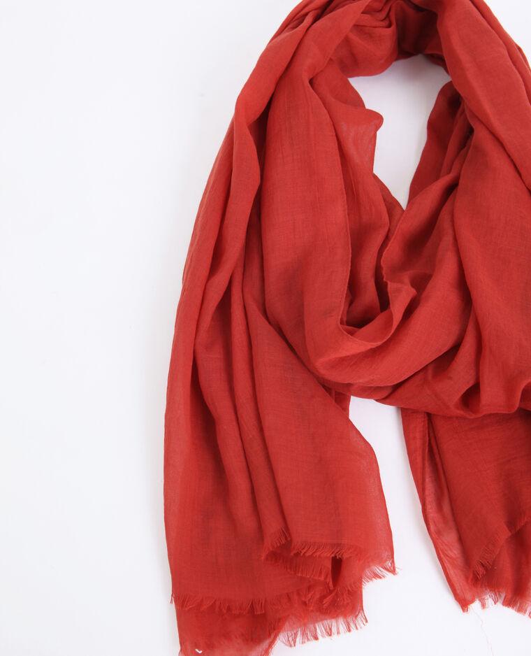 Foulard léger rouge - Pimkie