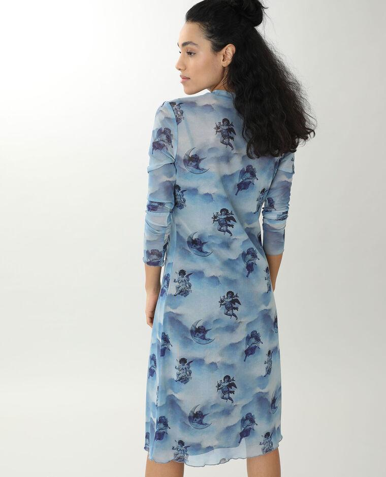 Robe transparente bleu