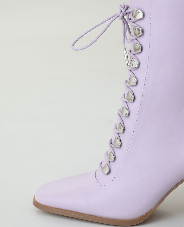 Bottines à talons violet