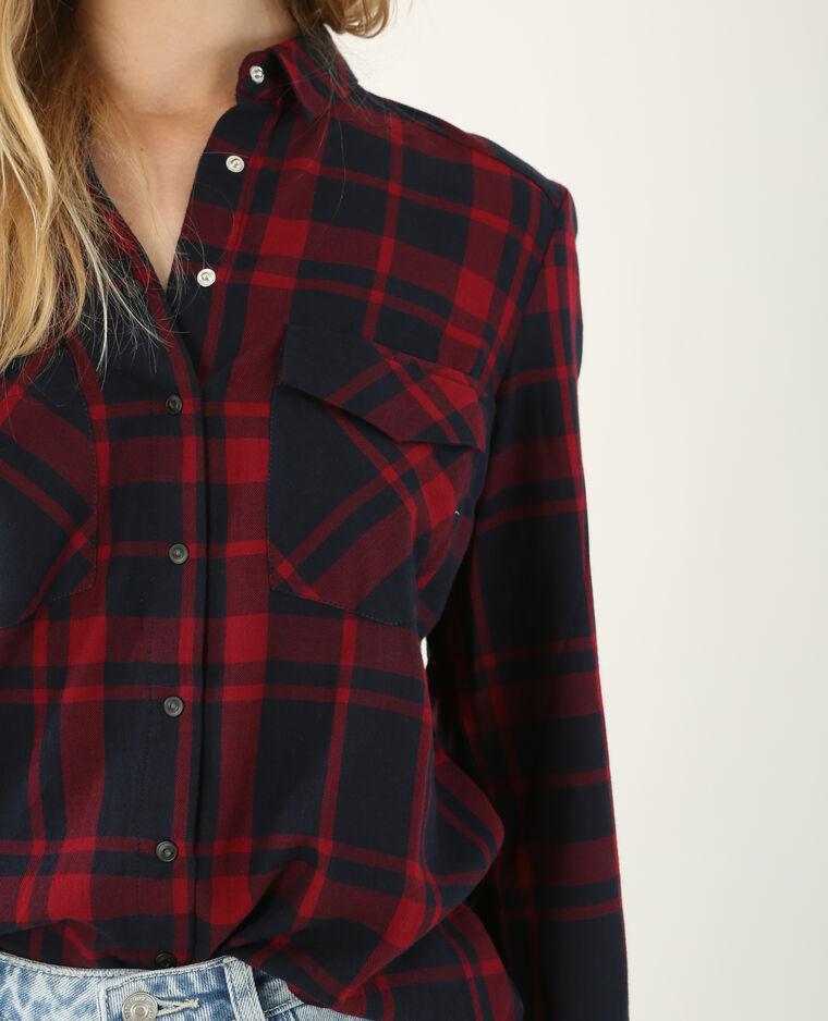 Chemise à carreaux rouge foncé - Pimkie