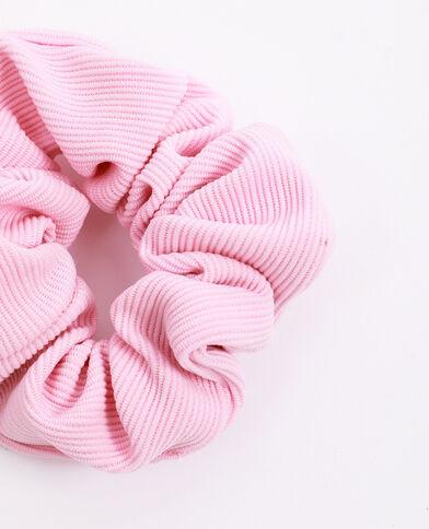 Chouchou texturé rose