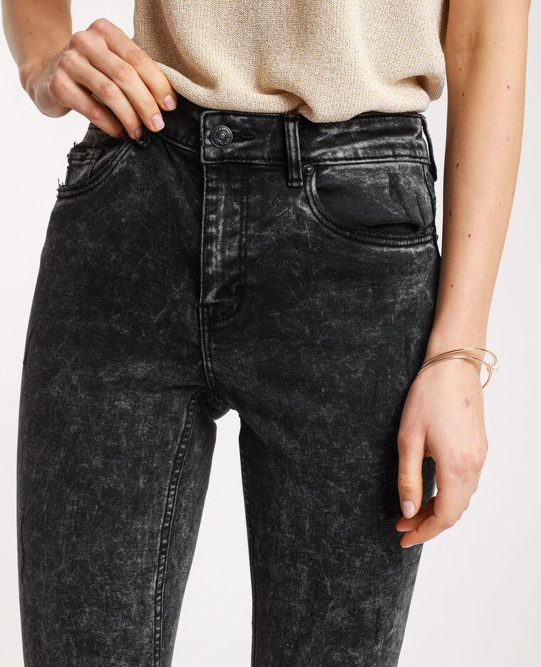 Jean skinny push up gris usé