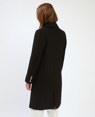 Manteau drap de laine ajusté noir - Pimkie
