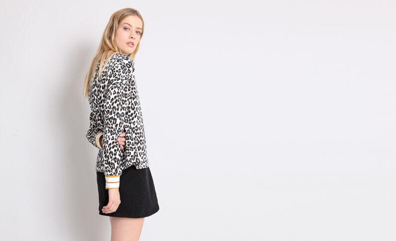 Sweat léopard jaune