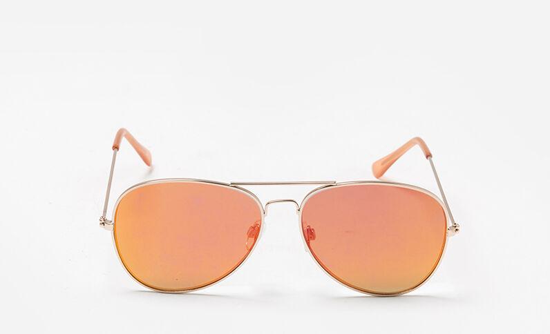 Lunettes de soleil style aviateur orange
