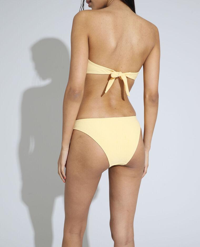 Bas de maillot culotte côtelé jaune pâle - Pimkie