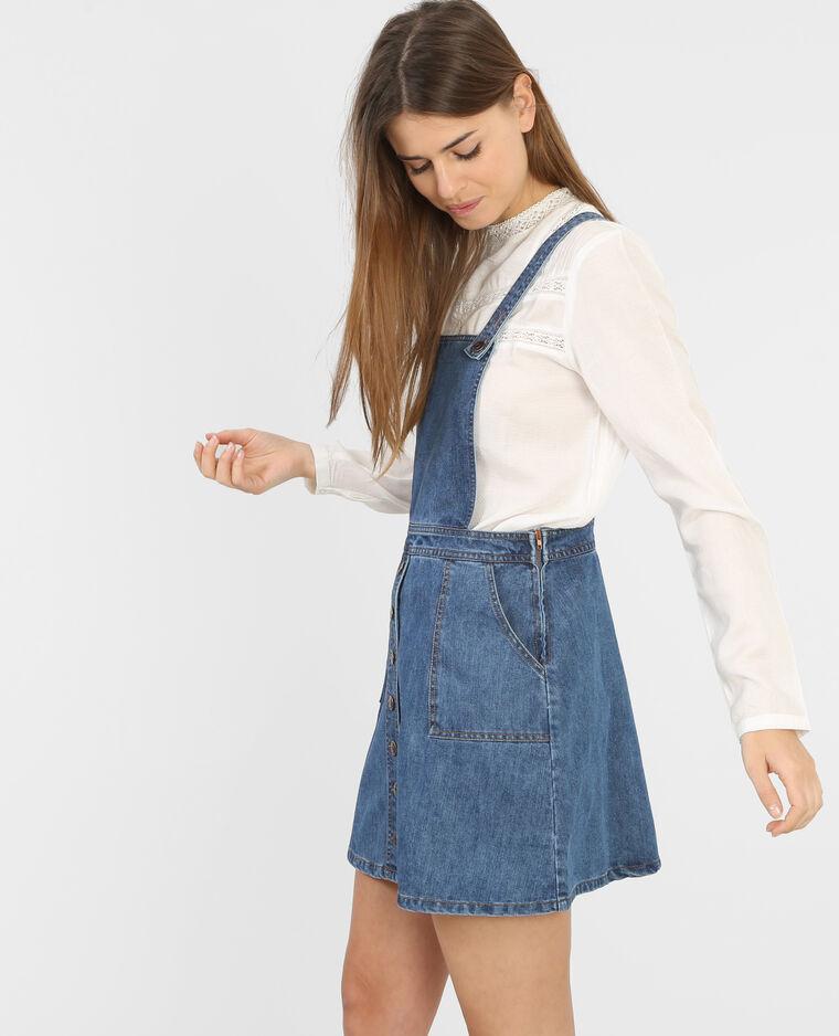 bd5346a05b1 Robe salopette en jean bleu denim - 780387B35A06