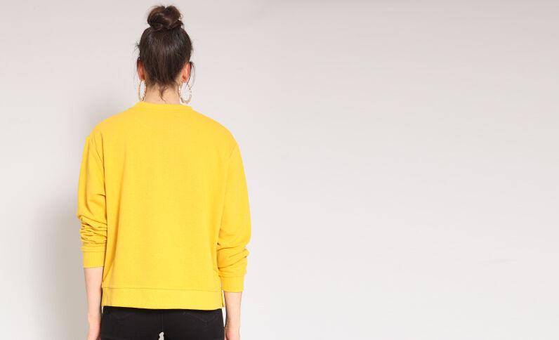 Sweat basique jaune