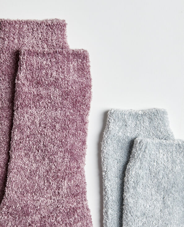 Chaussettes chenille rose
