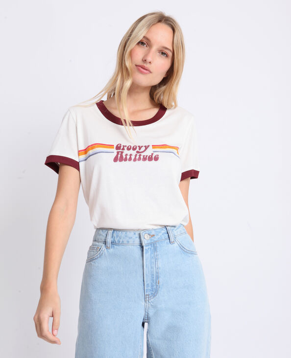 T-shirt vintage écru
