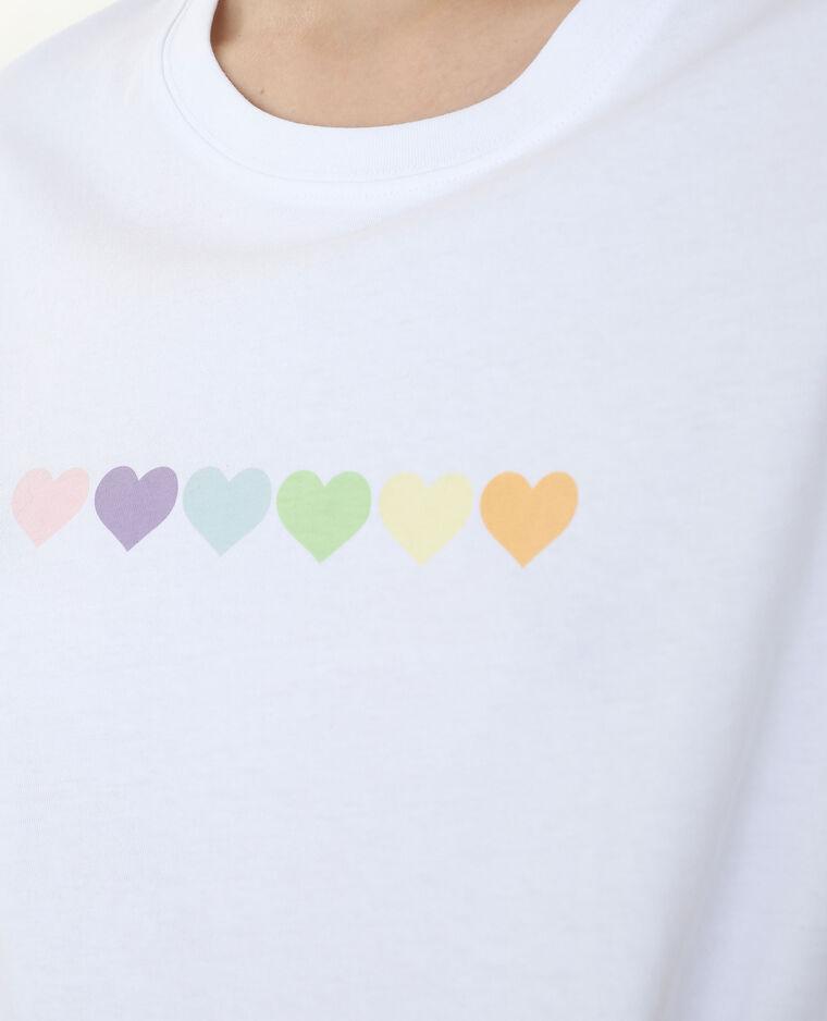 T-shirt manches courtes écru