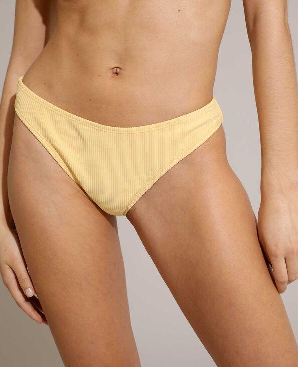 Bas de maillot culotte côtelé jaune pâle