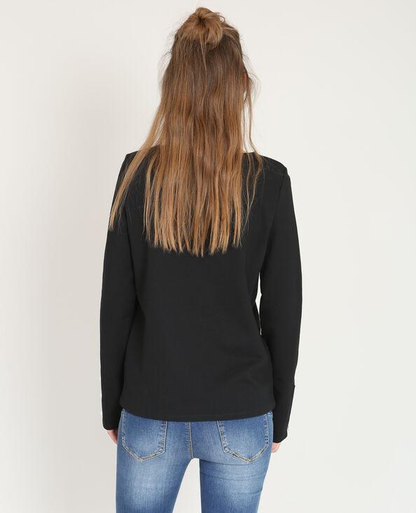 T-shirt perlé noir
