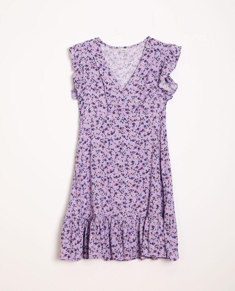 Robe à fleurs lilas