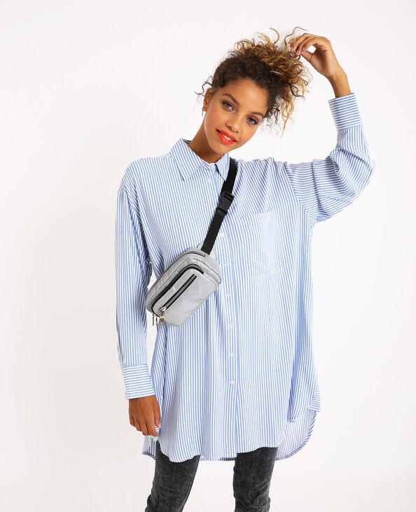 Chemise oversized à rayures bleu