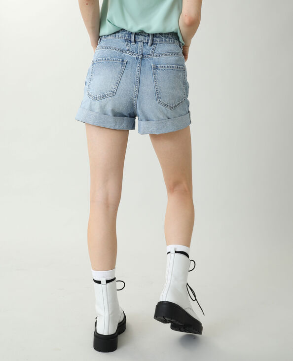 Short en jean high waist bleu clair - Pimkie