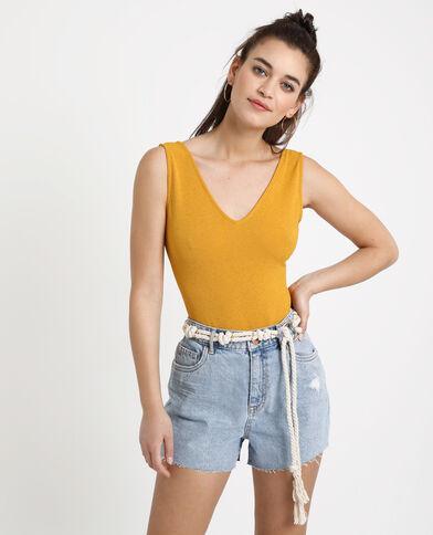 Body à dos ouvert jaune