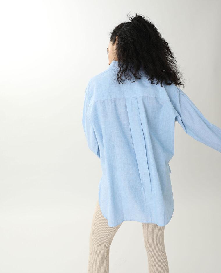 Chemise longue bleu ciel - Pimkie