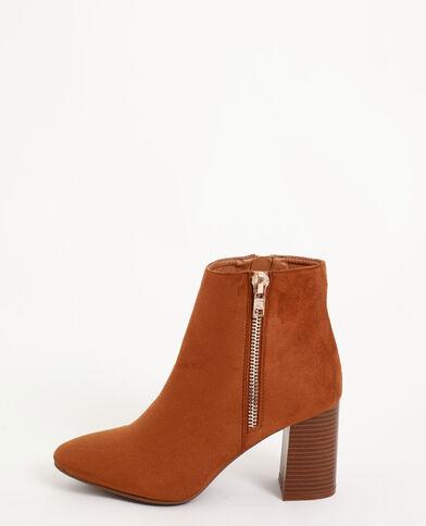 Boots à talons marron