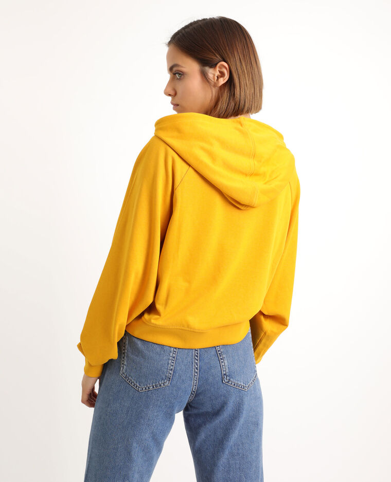 Sweat court jaune