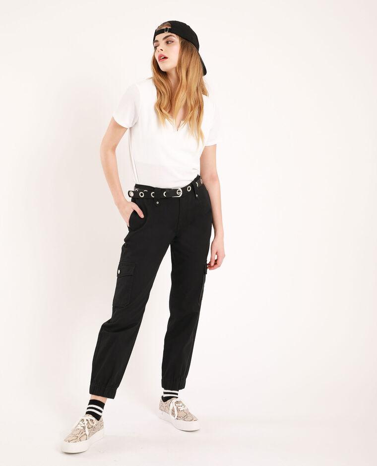 T-shirt décolleté V blanc