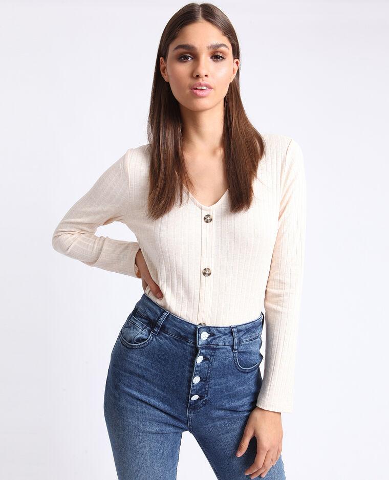 T-shirt à dos ouvert blanc