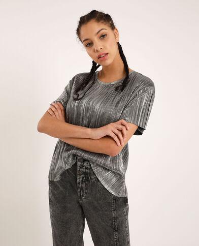 T-shirt brillant gris