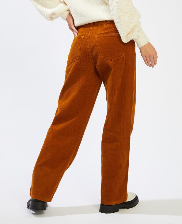 Pantalon velours caramel - Pimkie