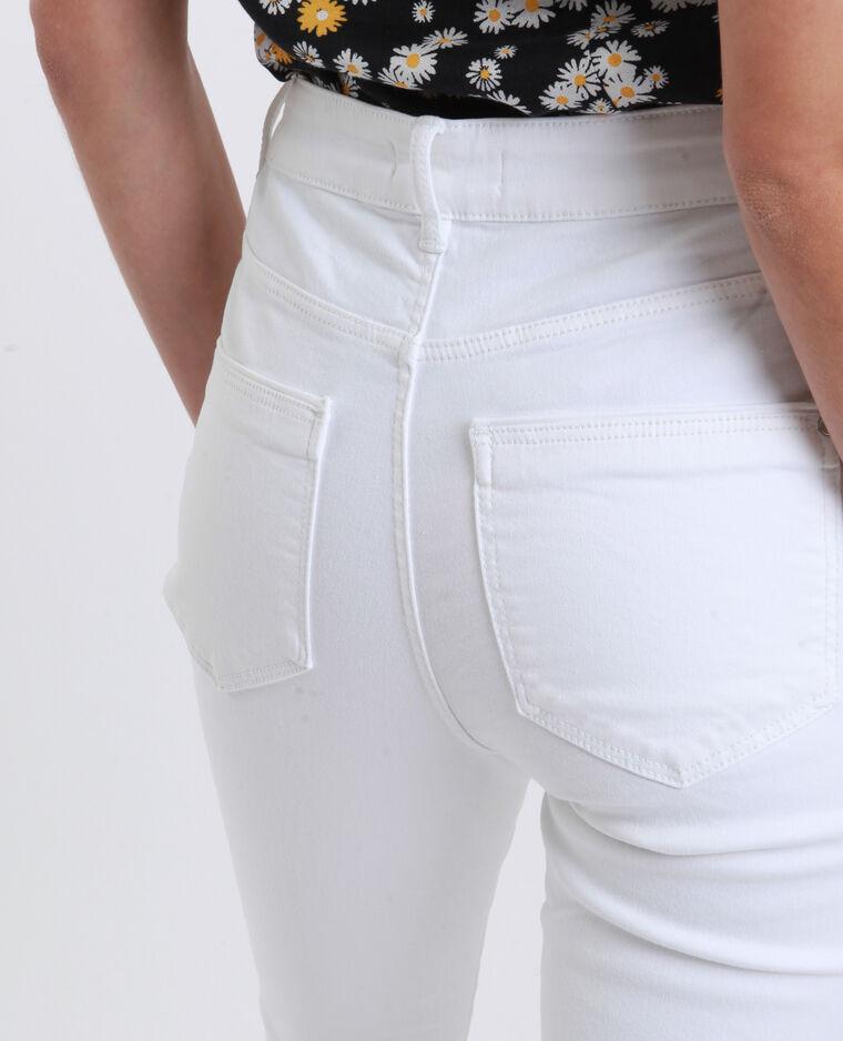 Jean skinny high waist blanc