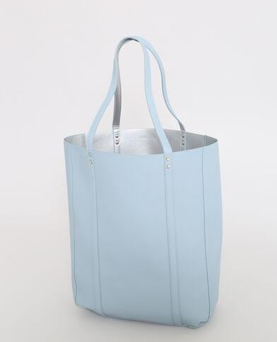 Shopper réversible bleu