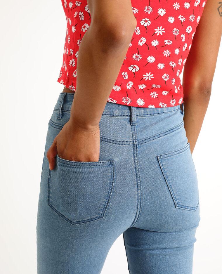 Jegging mid waist bleu denim