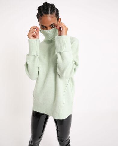 Pull ample vert